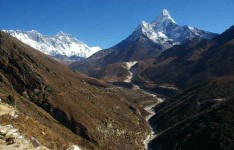 Everest View on the way to Dingbuche