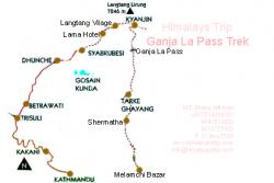 Langtang Ganja La Pass Map